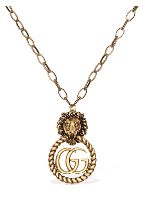 Big Lion Vintage Gg Running Necklace