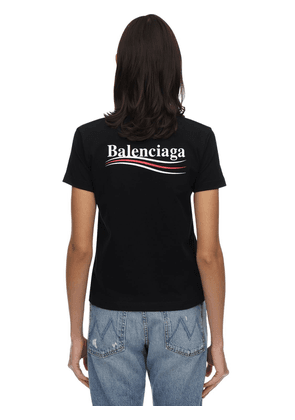 Fitted Political Logo Jersey T-shirt