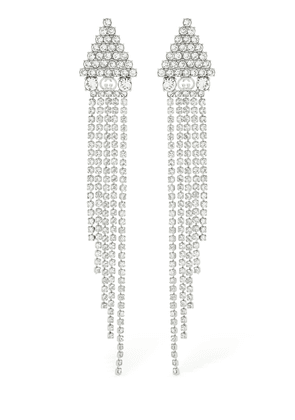 Tennis Crystal Pendant Earrings