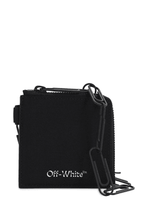 Logo Zip Leather Chain Wallet