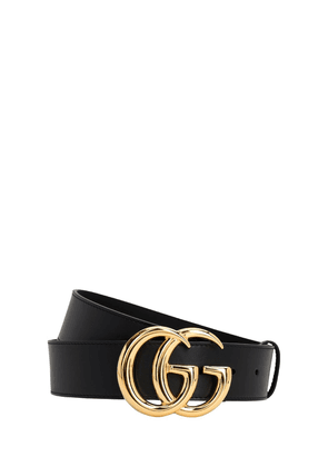 40mm Shiny Gg Buckle Leather Belt