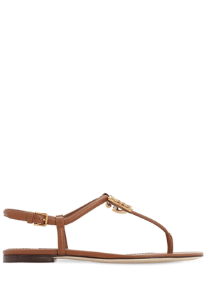 10mm Logo Leather Thong Sandals