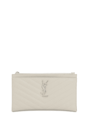 Sm Quilted Leather Bill Pouch