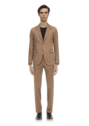 Stretch Cotton Gabardine Suit