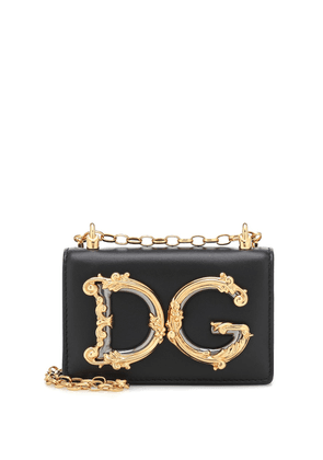 DG Girls Mini leather shoulder bag