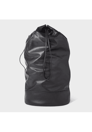 Men's Black Leather Duffle Bag