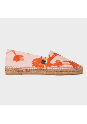 Women's Pink 'Screen Floral' Canvas 'Sunny' Espadrilles
