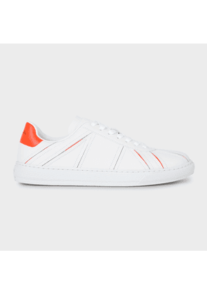 Women's White Leather 'Flag' 'Levon' Trainers