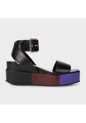 Women's Black 'Janis' Platform Sandals