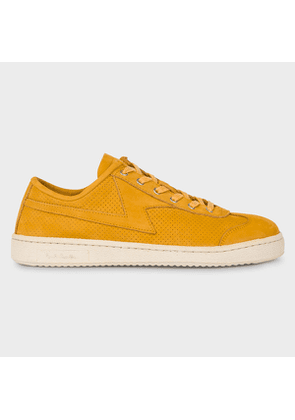 Women's Ochre Yellow 'Ziggy' Leather Trainers