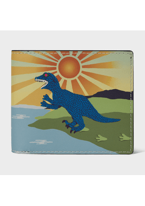 Men's 'Dino Sun' Print Leather Billfold Wallet