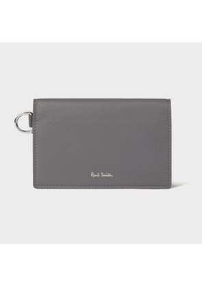 Women's Grey Medium Tri-Fold Leather Purse