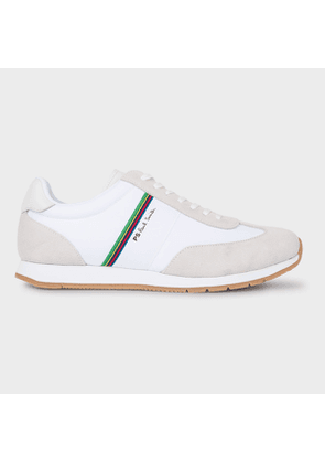 Men's White 'Sports Stripe' 'Prince' Trainers