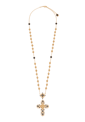 Dolce & Gabbana Glass Diamond Cross Necklace