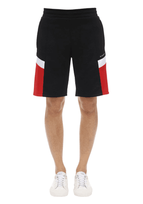 Technical Jersey Shorts W/ Logo Details