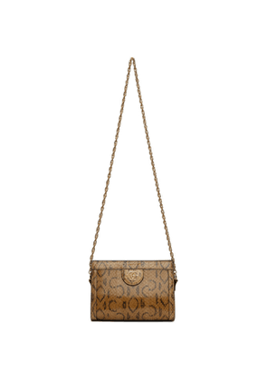 Gucci Beige and Brown Snake Ophidia Evening Bag