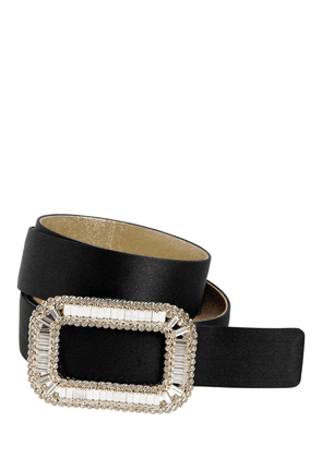 30mm Pilgrim Silk Belt W/crystal Buckle
