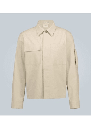 Cotton overshirt with arm detail