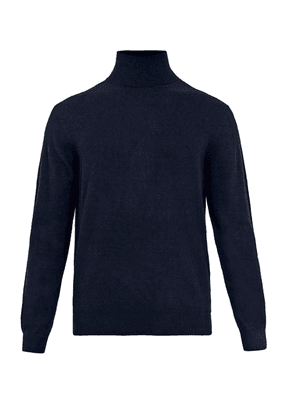 Raey - Roll-neck Cashmere Sweater - Mens - Navy
