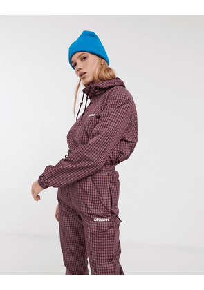 Carhartt WIP oversized windbreaker jacket in check co-ord-Red