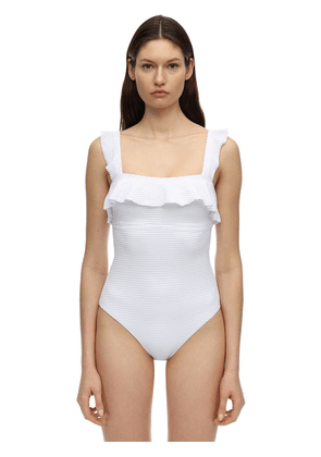 Waves Stretch Nylon One Piece Swimsuit
