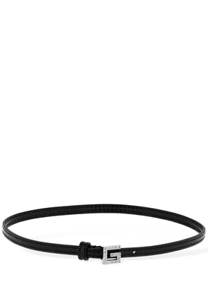 Leather Choker W/ Square G Detail