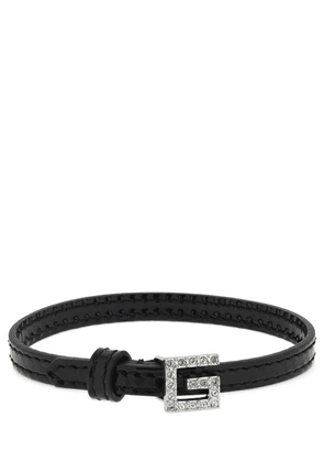 Leather Bracelet W/ Square G Detail