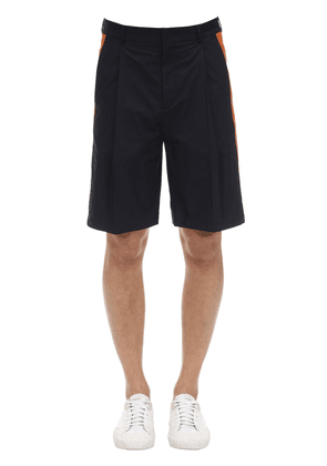 Cotton Bermuda Shorts W/side Bands