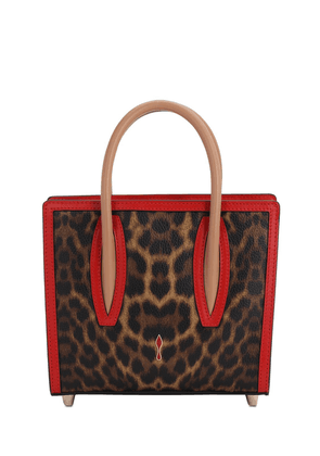 Mini Paloma Leopard Print Leather Bag