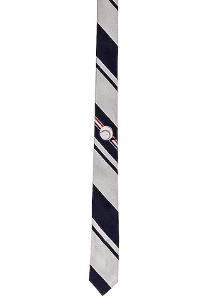 Thom Browne Tie in Navy - Blue,Gray,Strpes. Size all.