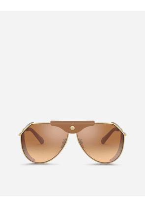Dolce & Gabbana Sunglasses - PANAMA SUNGLASSES GOLD AND CAMEL