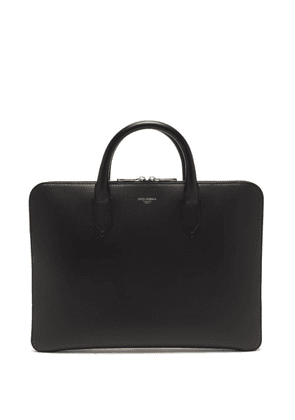 Dolce & Gabbana - Foiled-logo Leather Briefcase - Mens - Black