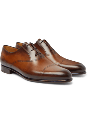 Berluti - Leather Oxford Shoes - Brown