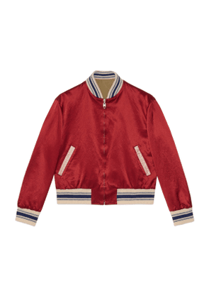 Reversible bomber jacket with Gucci Orgasmique