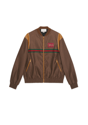Mini GG zip-up jacket with Gucci label