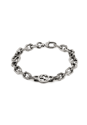 Silver bracelet with Interlocking G