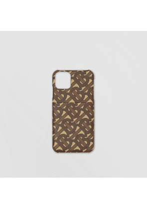 Burberry Monogram Print E-canvas iPhone 11 Pro Case, Brown