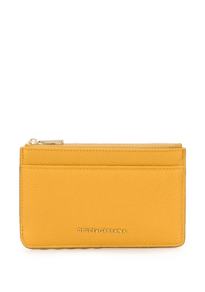Dolce & Gabbana logo plaque purse - Yellow