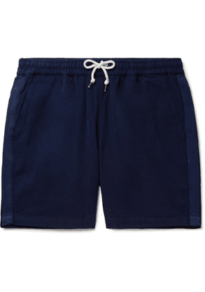 Universal Works - Cotton-Canvas Drawstring Shorts - Men - Blue