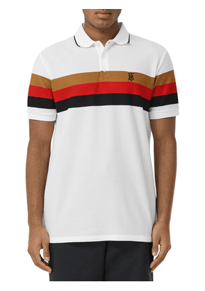 Heritage Striped Cotton Piqué Polo Shirt