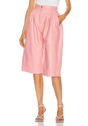 CARMEN MARCH Leather Trouser Short in Light Pink - Pink. Size 3 (also in ).