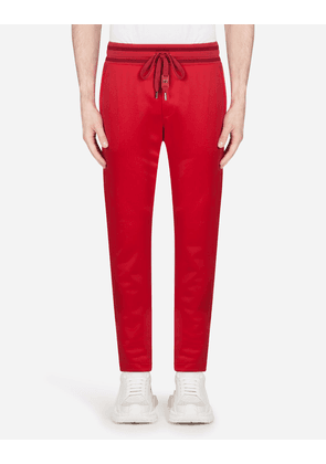 Dolce & Gabbana Trousers and Shorts - JOGGING PANTS WITH PATCH BURGUNDY