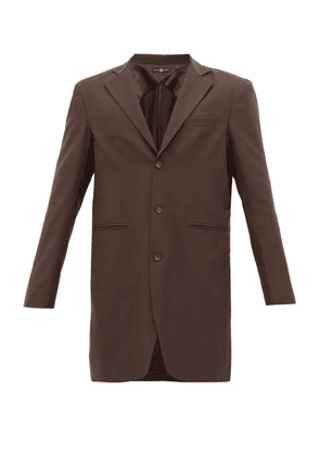 Edward Crutchley - Single-breasted Wool Jacket - Mens - Brown