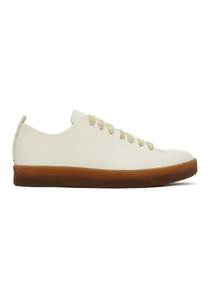 Feit White Hand Sewn Low Latex Sneakers
