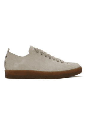 Feit Grey Hand-Sewn Low Latex Sneakers