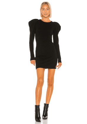 Autumn Cashmere Draped Sleeve Dress in Black. Size S,L.