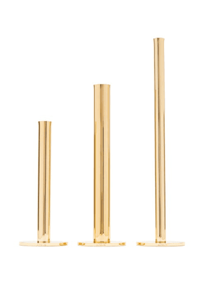 Aerin - Set Of Three Lilio Bud Gold-plated Vases - Gold