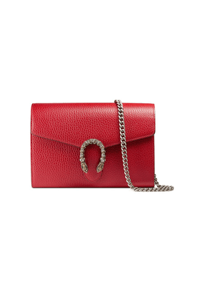 Gucci Dionysus leather mini chain bag - Red