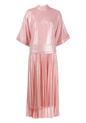 Atu Body Couture pleated sequinned dress - PINK