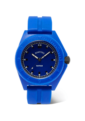 Bamford Watch Department - Mayfair Sport Polymer and Rubber Watch - Men - Blue